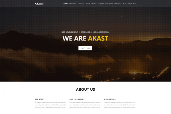 Akast | One & Multi-Page Premium Theme