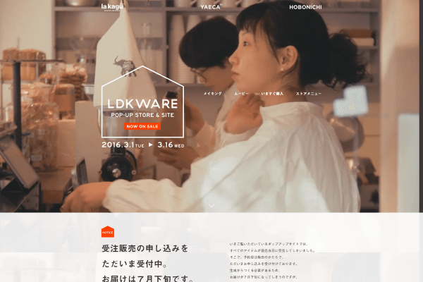 LDKWARE POP-UP STORE & SITE